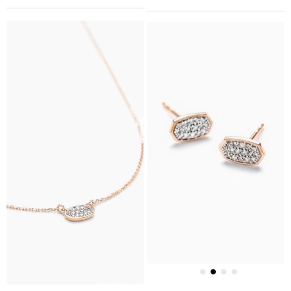 Kendra Scott FINE 14k Rose Gold/Diamond Marisa Set